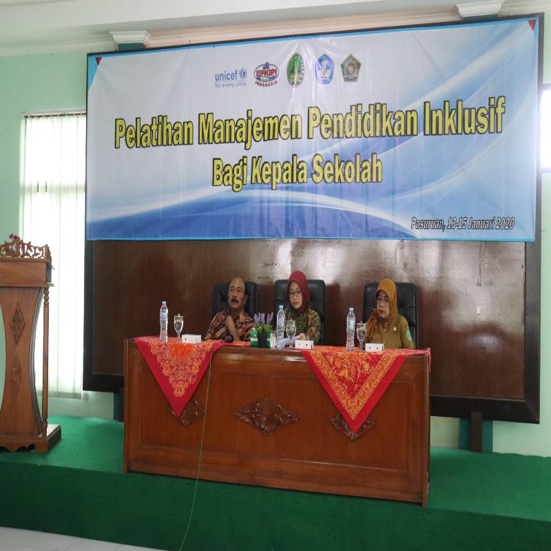 Pelatihan Manajemen Pendidikan Inklusif Kab Bondowoso Dan Kota Pasuruan Lpkipi